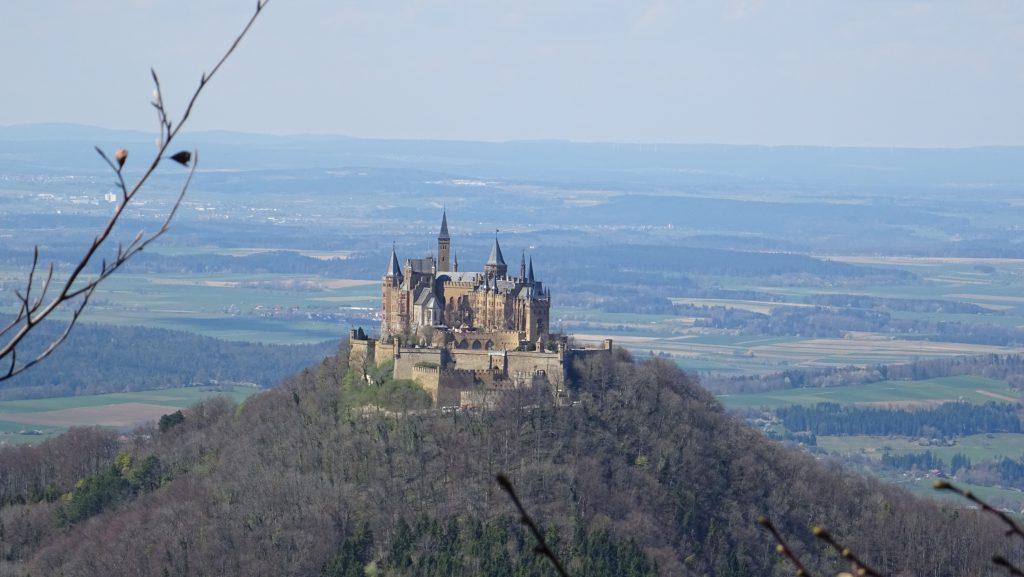 Panoramablick auf die Burg Hohenzollern