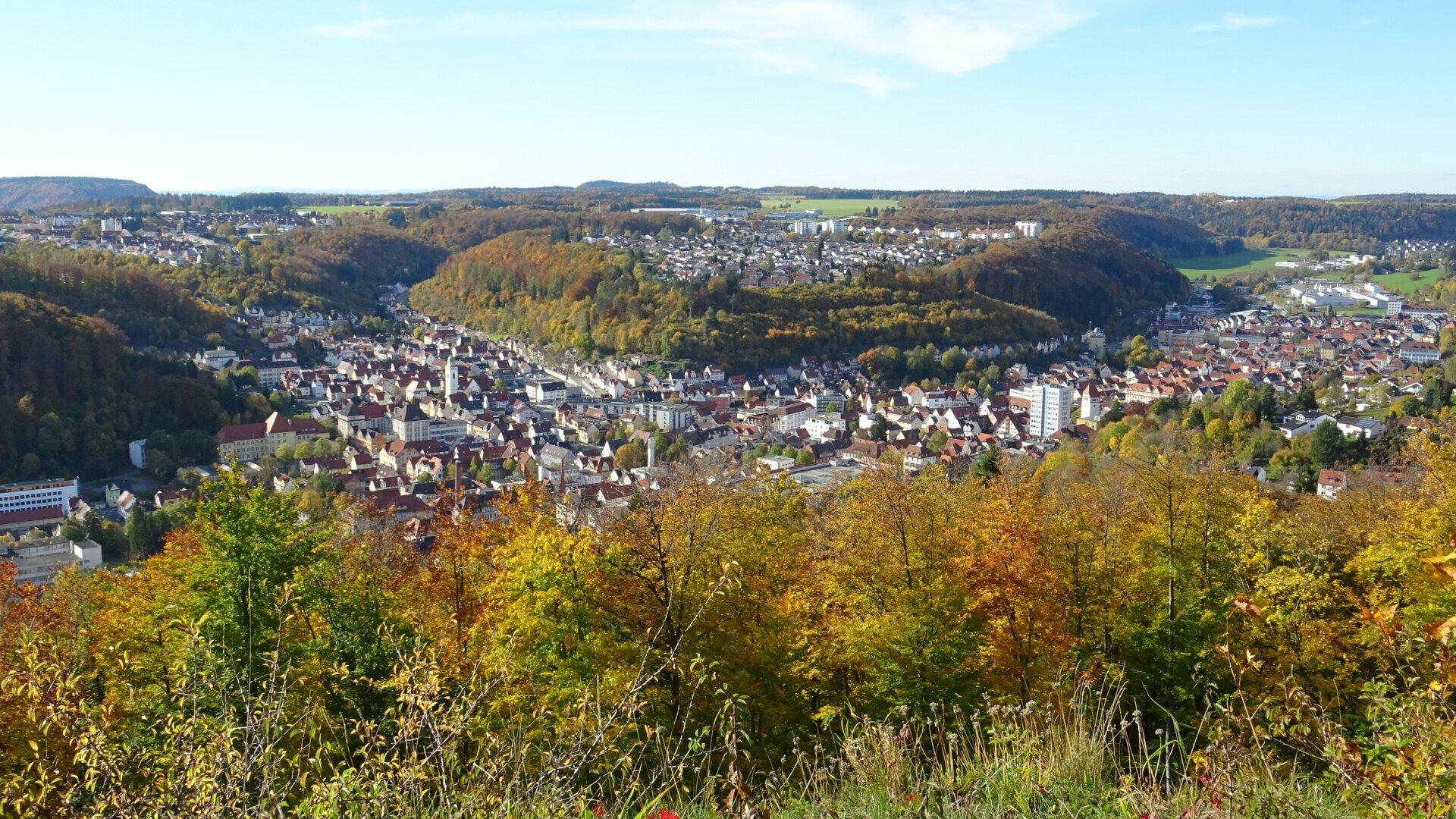 Blick vom Schloßberg auf Tailfingen